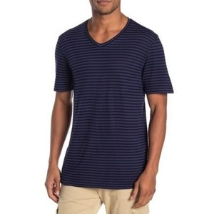 Public Opinion Nordstrom Stripe Navy Blue Tshirt M